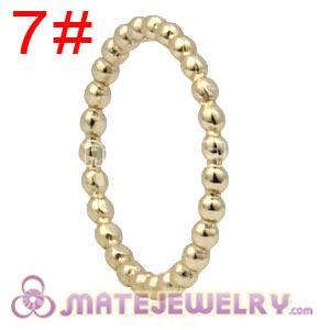 Gold Plated Sterling Silver European Stackable Bubble Ring Wholesale