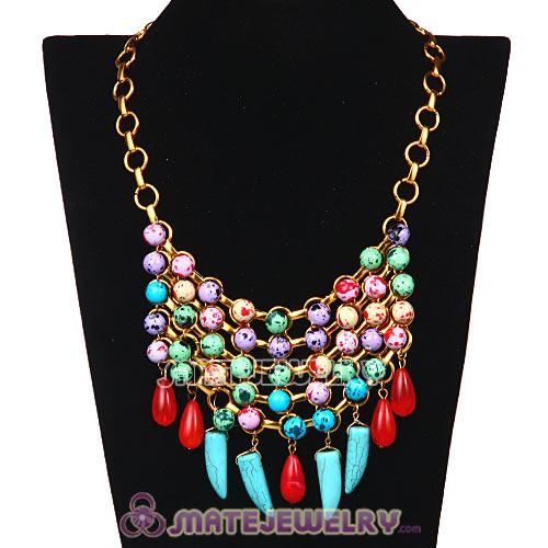 2013 Fashion Ladies Statement Beaded Necklace Costume Jewelry