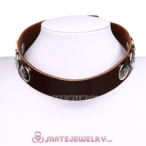Wholesale Noosa Amsterdam Leather Necklaces Dark Brown