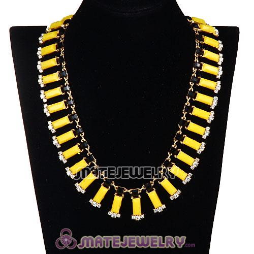 Resin Rhinestone Crystal Choker Collar Bib Necklace Wholesale