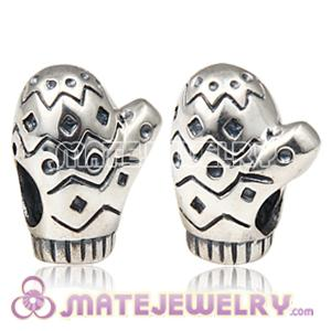 Charmilia sterling silver mitten glove charm beads fit European Largehole Jewelry jewelry