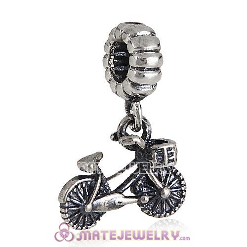 European Style Sterling Silver Beads Dangle Bicycle Charm