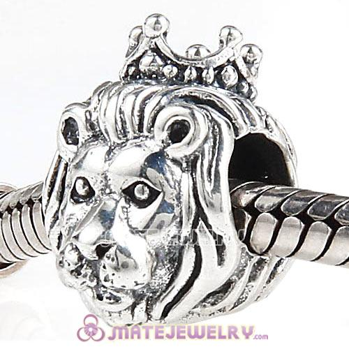 European Style Sterling Silver King of the Jungle Lion Beads