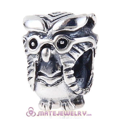 Antique Sterling Silver European Style Owl Charms
