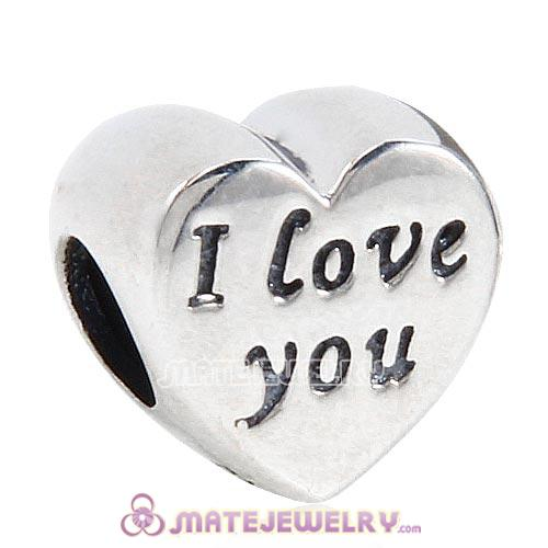 European Style Sterling Silver Words of I Love You Charm Beads