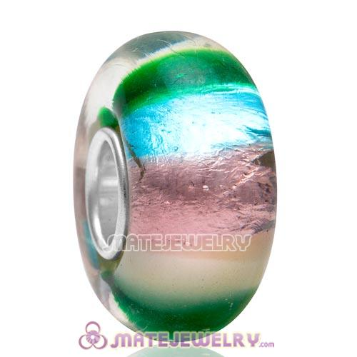 Top Class European Gradient Color Glass Bead with 925 Silver Core