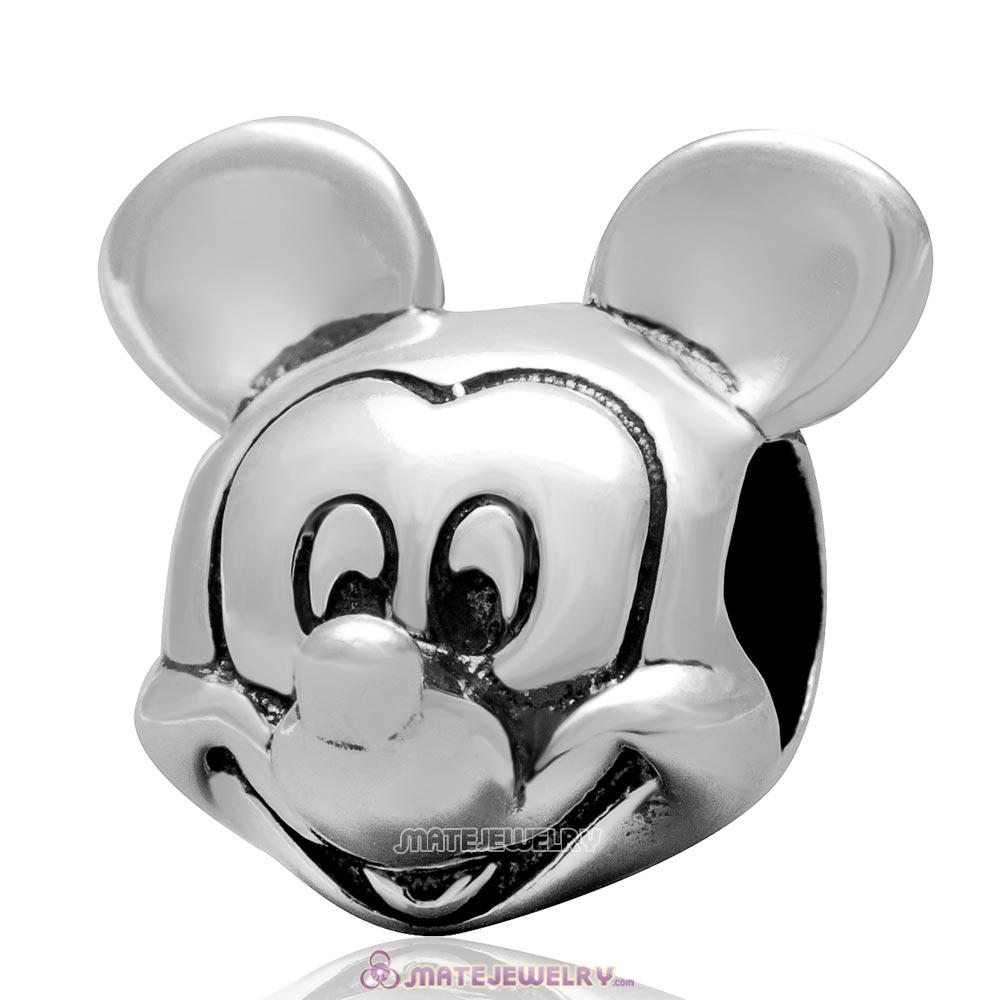 Sterling Silver Mickey Portrait Charm Bead