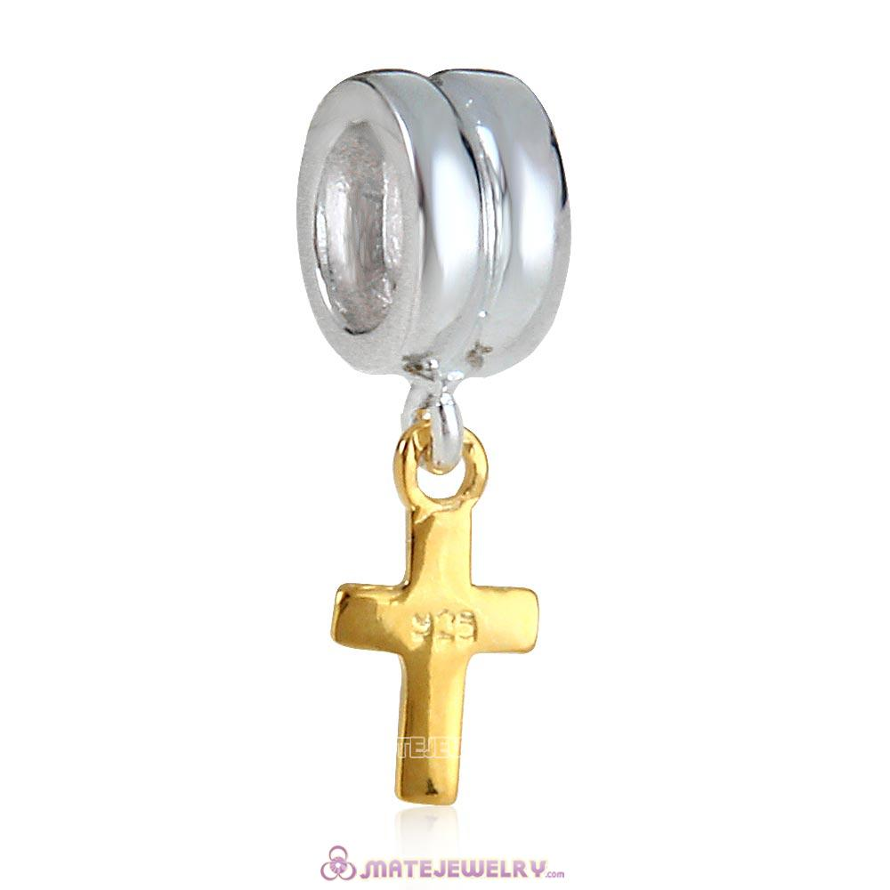 European Charm with Cross Dangle