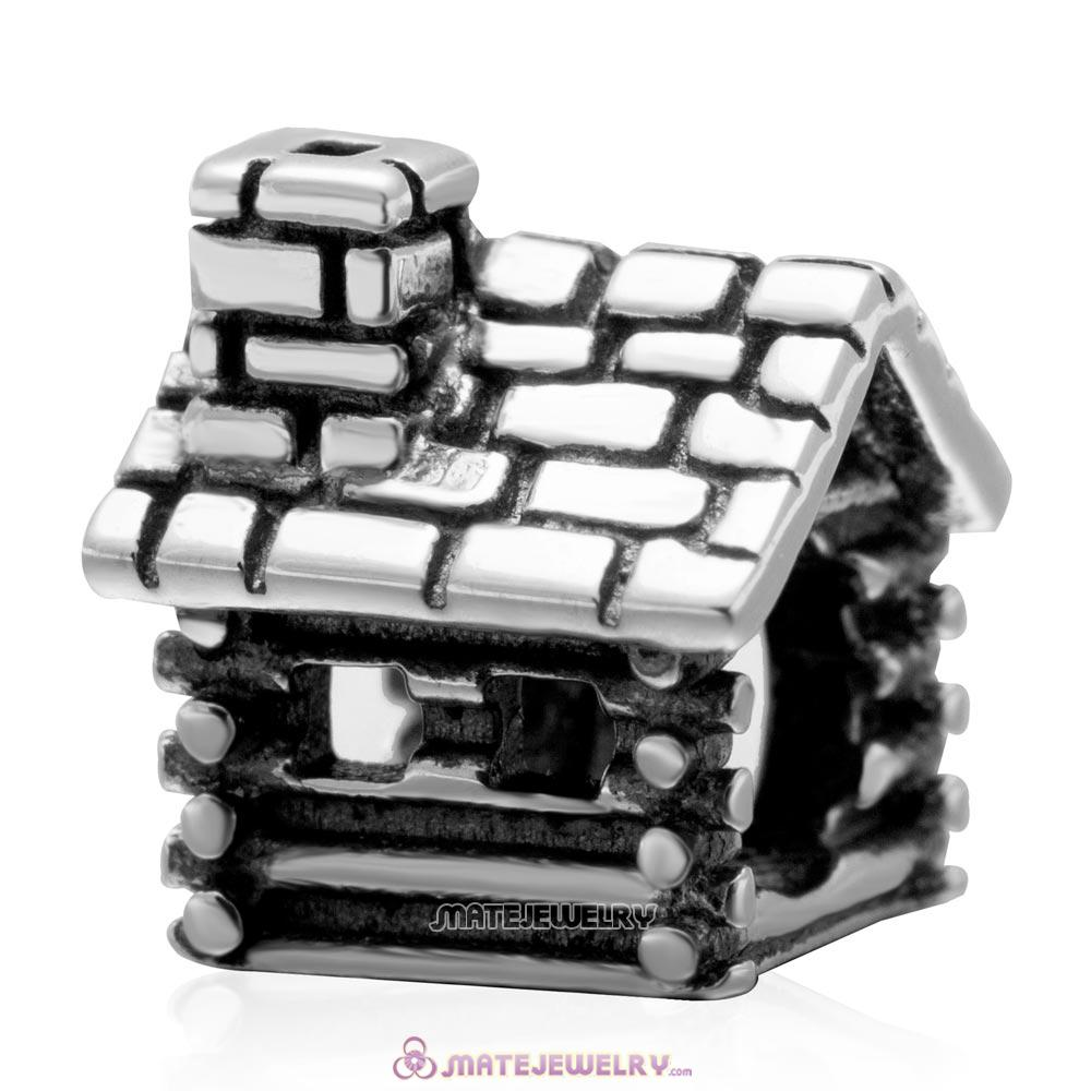 Wholesale House Home Charm Bead Antique Silver