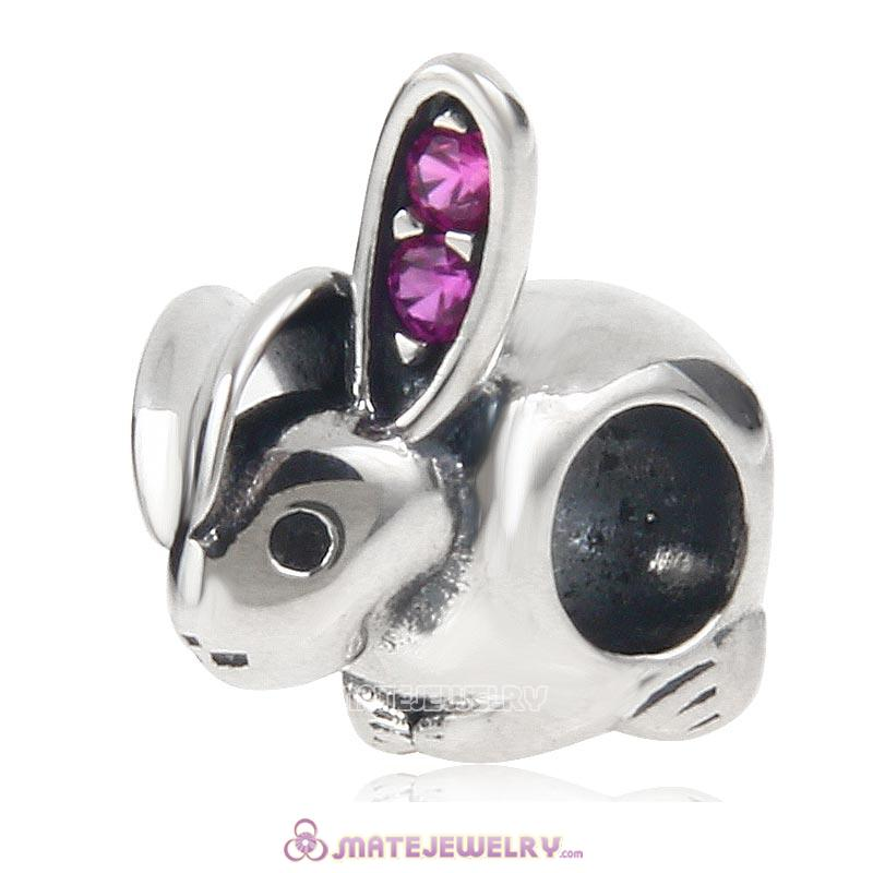Easter Rabbit 925 Sterling Silver Charm Bead