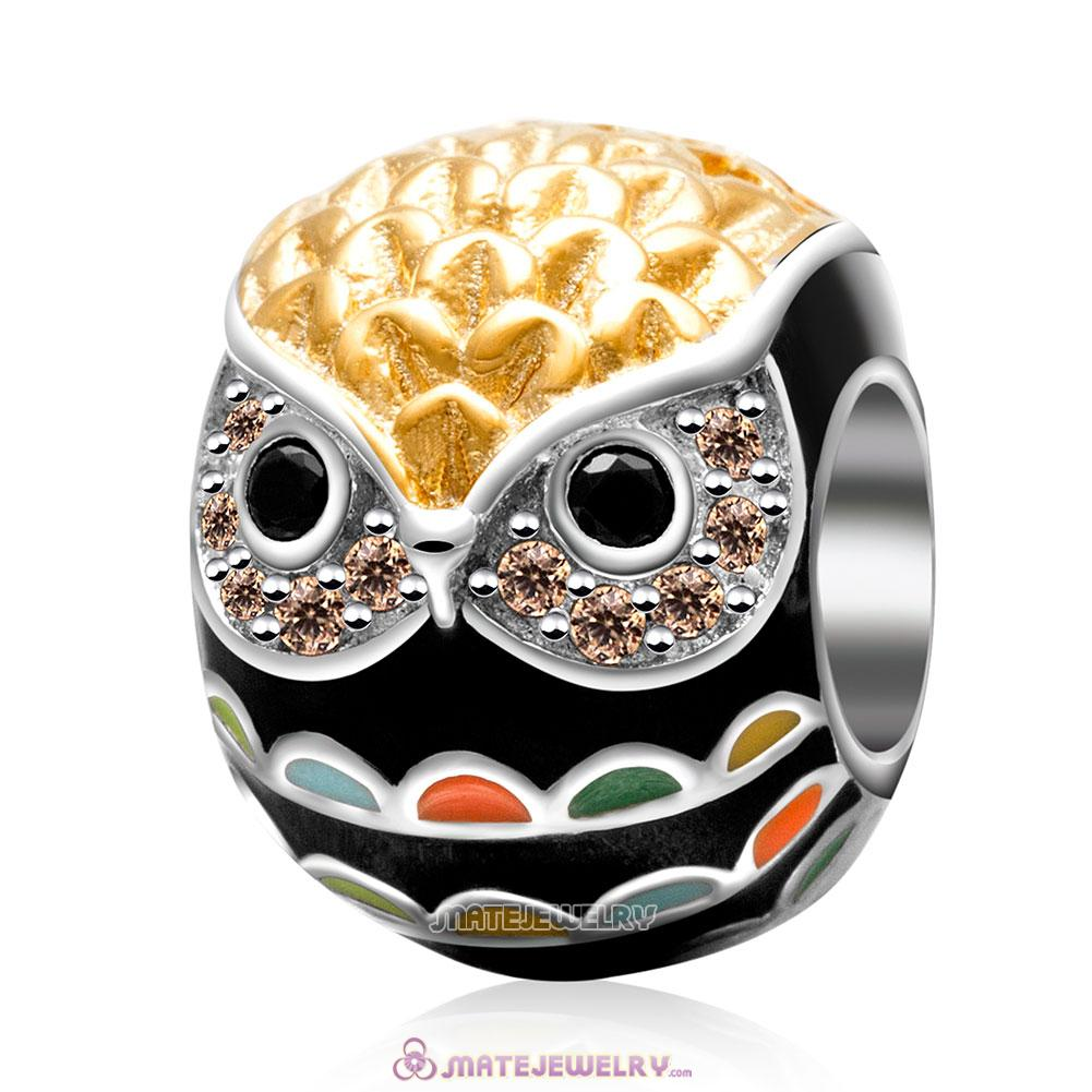 Colorful Animal Owl Charm