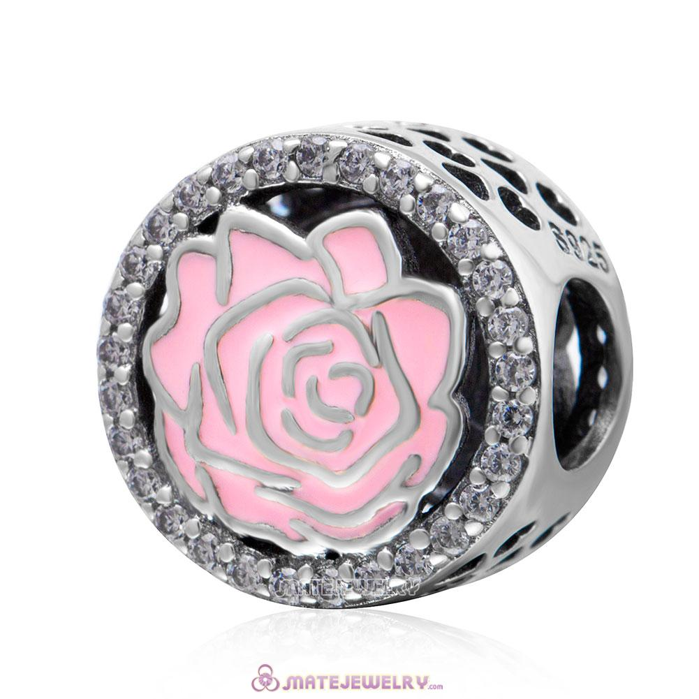 Perfect Rose Pink Enamel Charm