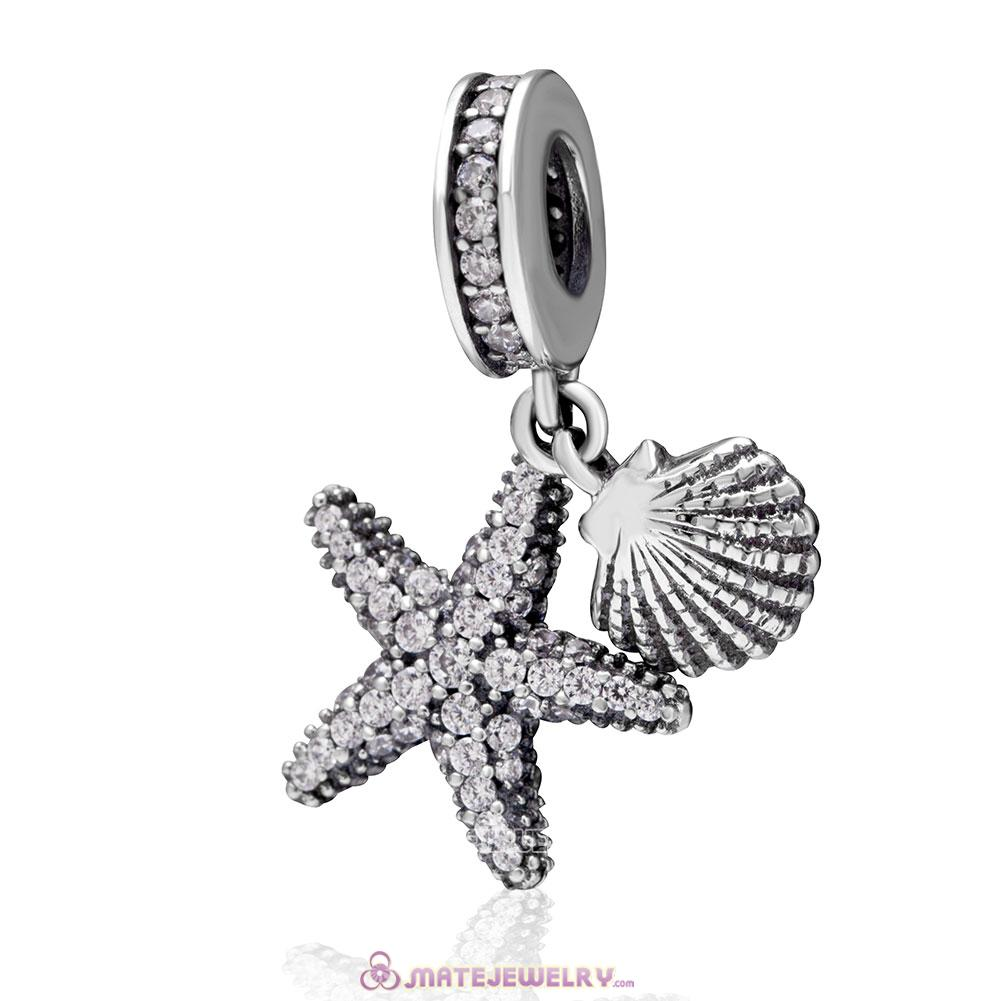 Starfish and Sea Shell Ocean Dangle Charms
