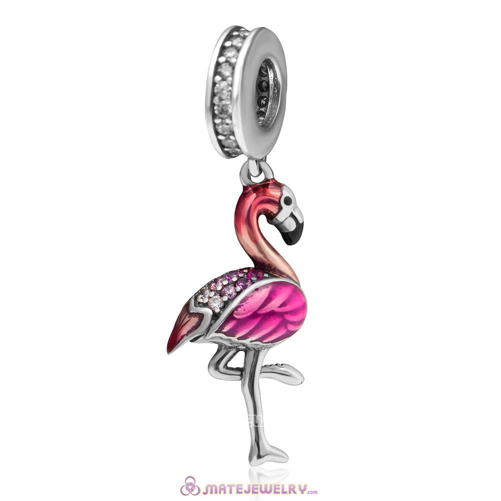 Flamingo Dance Charms Beads