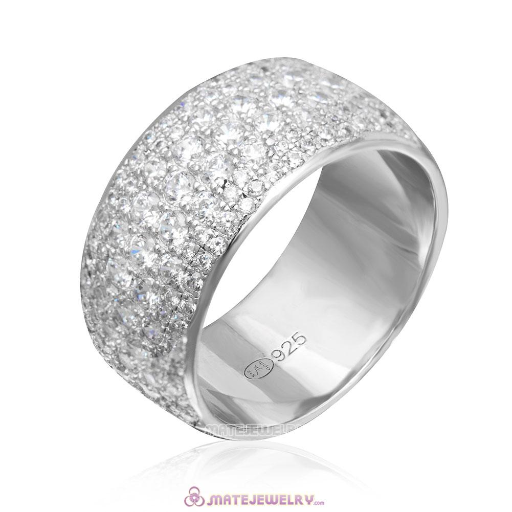 Cubic Zirconia Ring Sterling Silver