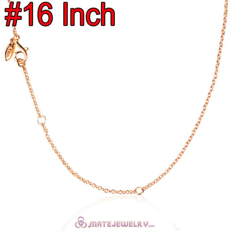 Wholesale Rose Gold Fashion Basic Necklace with Lobster Clasp