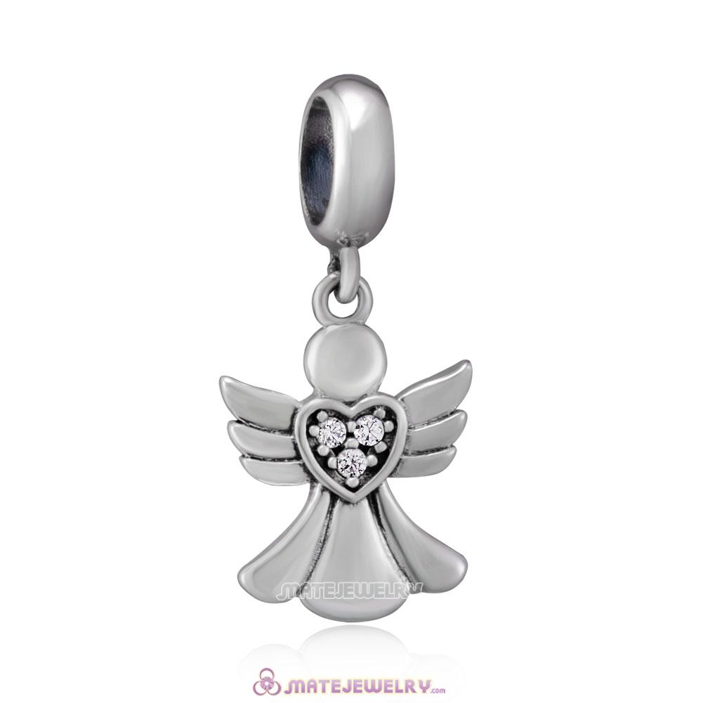 925 Sterling Silver Angel of Love Charms Beads