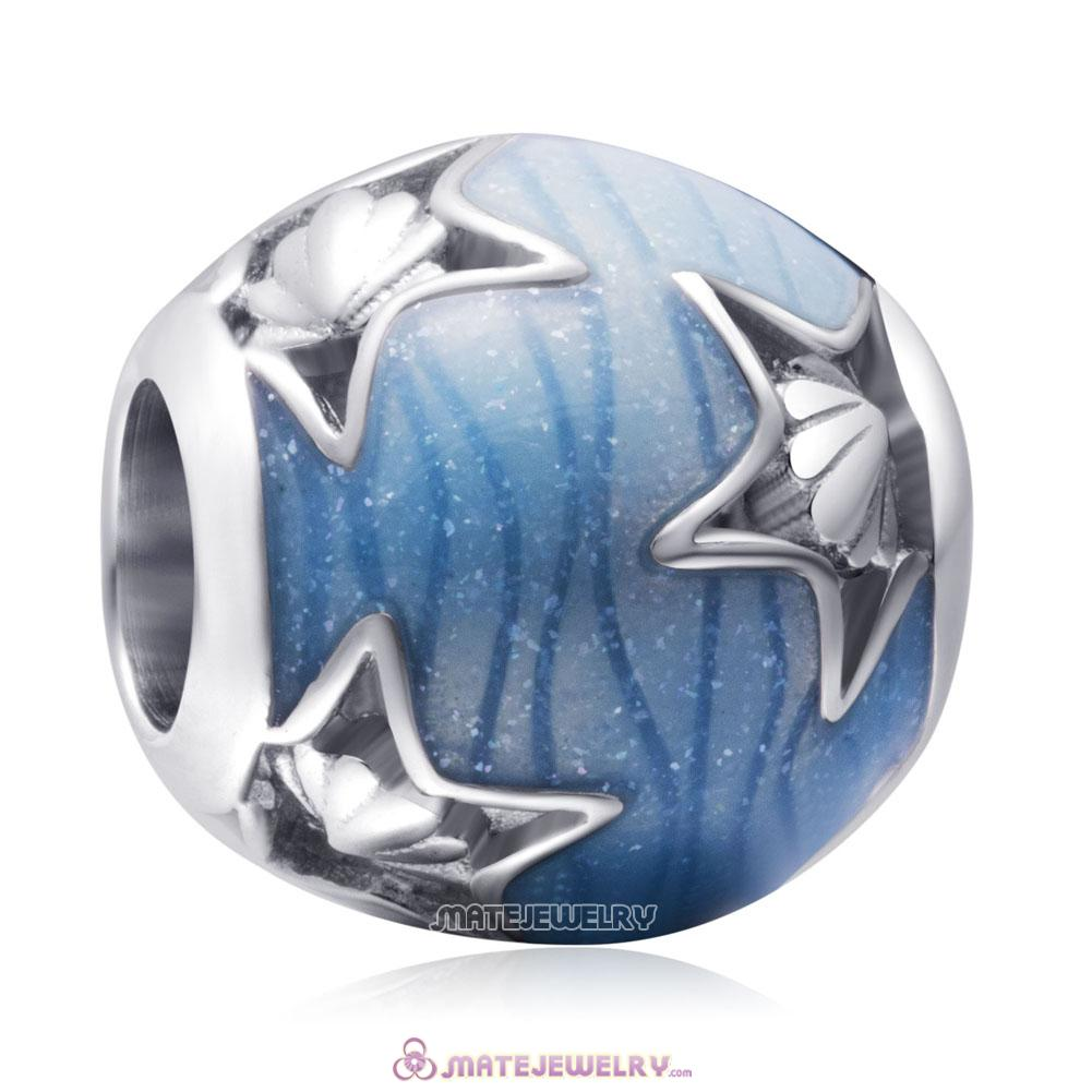 925 Sterling Silver Blue Ocean Starfish Charms Beads