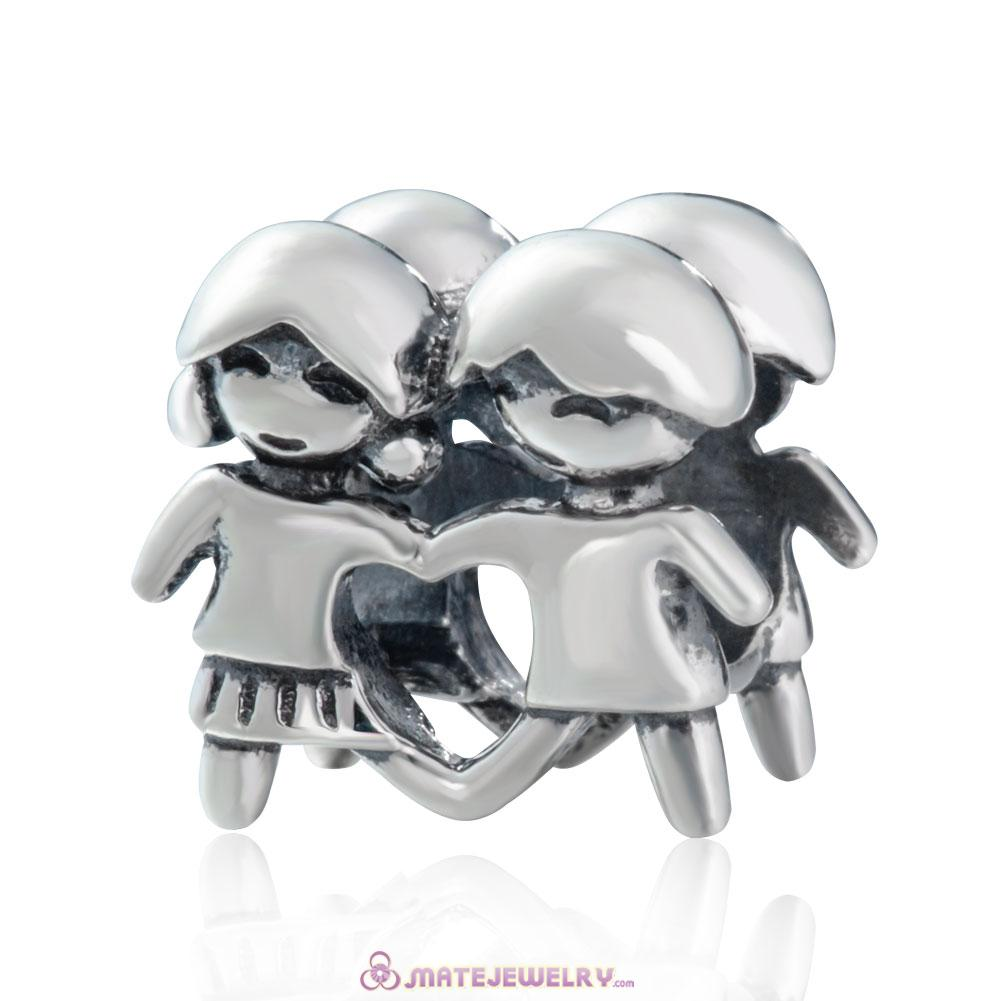 925 Sterling Silver Boy and Girl Charms Beads