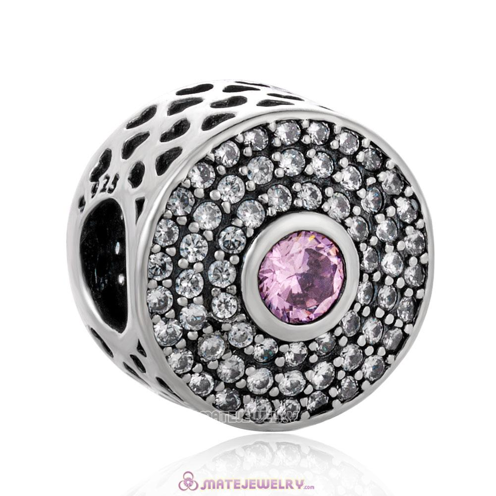Radiant Splendor with Clear and Pink CZ Charm