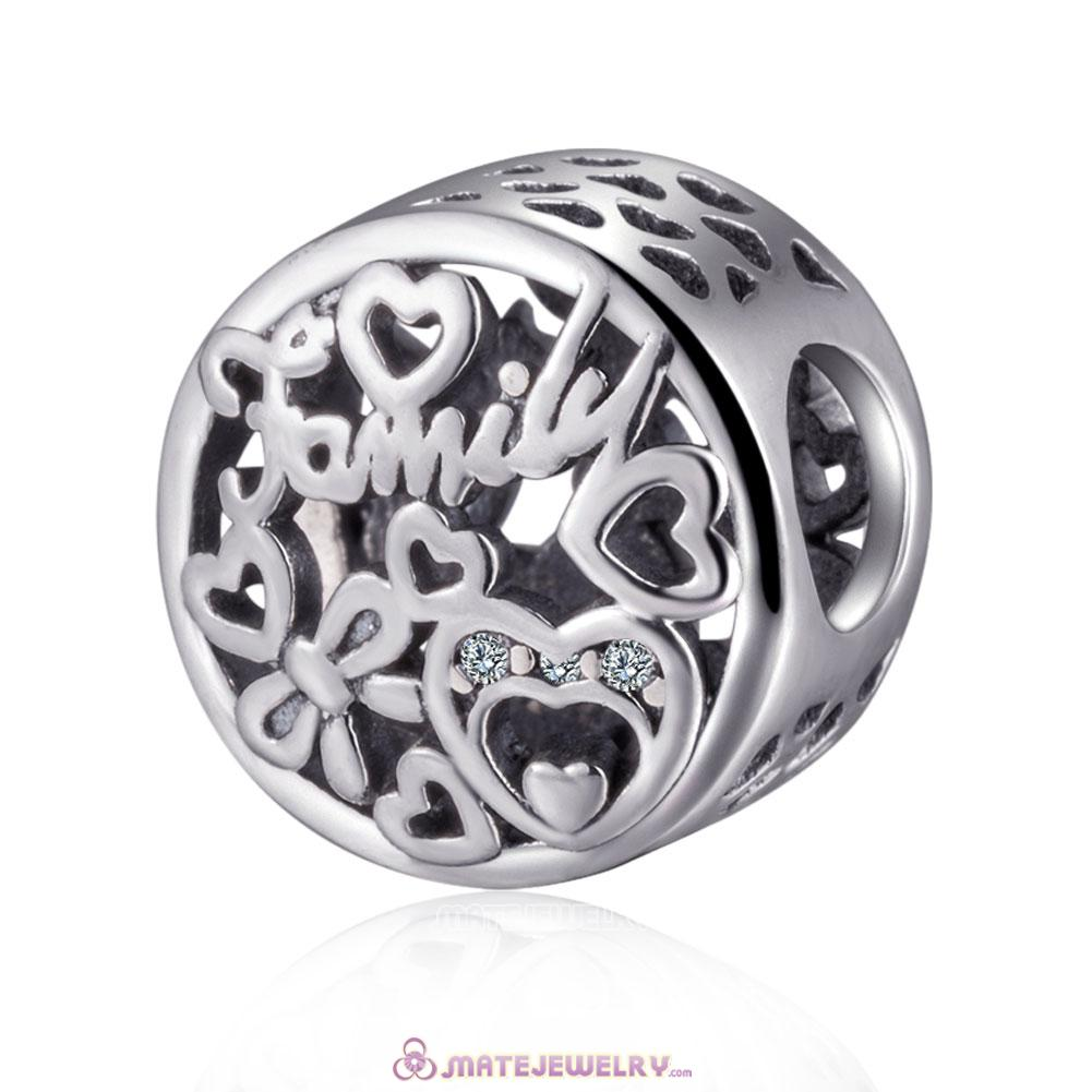 Silver Family Tribute Charm Beads European Style