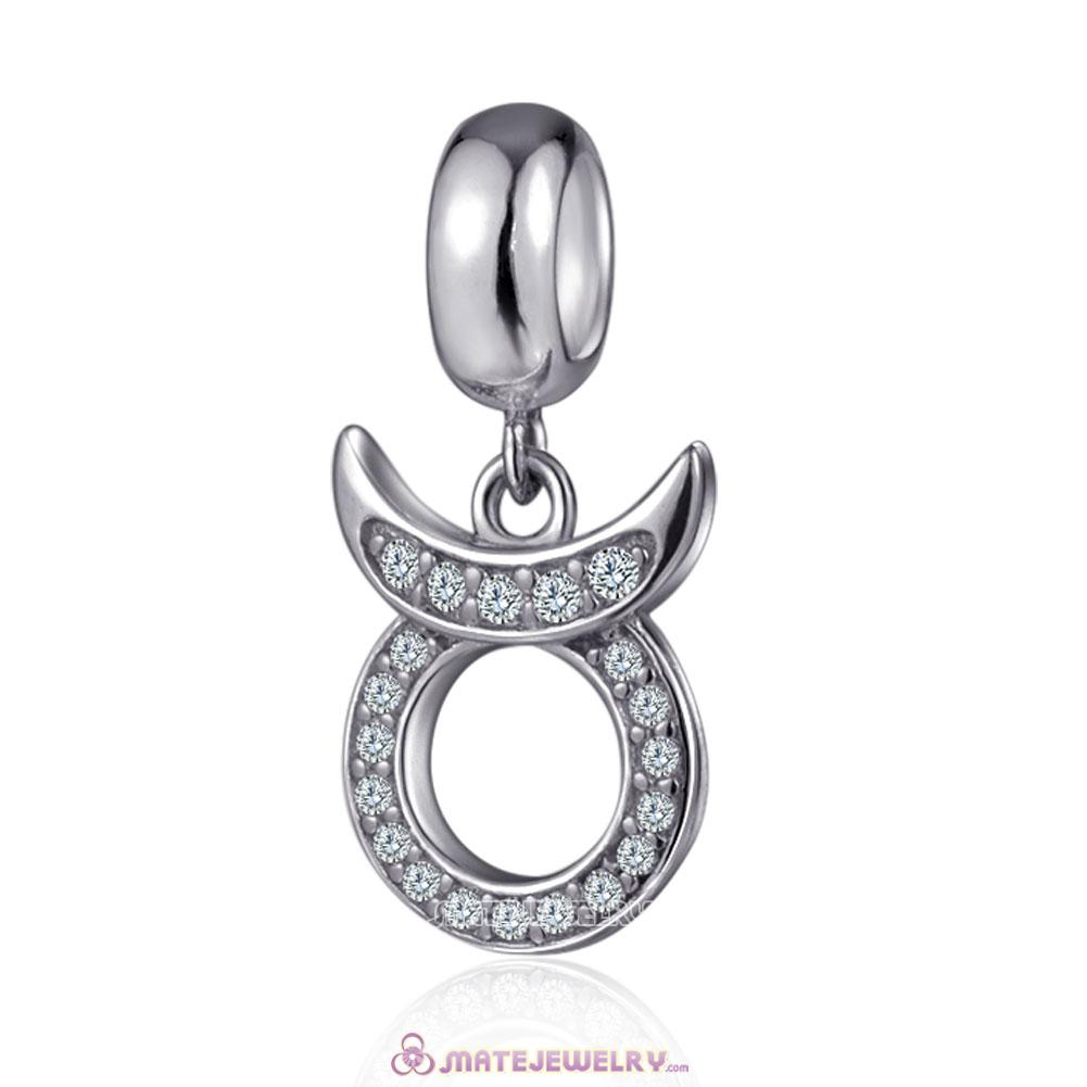Silver Cubic Zirconia Taurus Charms Pendant