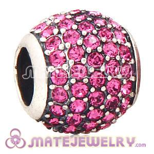 European pink pave ligthts charm