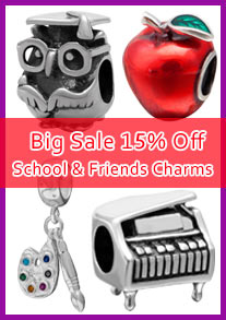 back to school charm beads